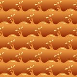 Honey and caramel waves seamless vector texture or pattern.  vector illustration