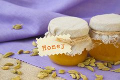 Honey and cardamom Royalty Free Stock Photography