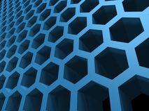 Honey cellular background. Abstract 3d blue honey cellular pattern background vector illustration