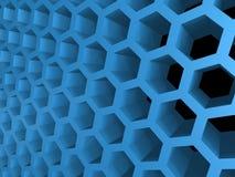 Honey cellular background. Abstract 3d blue honey cellular pattern background royalty free illustration