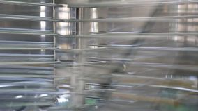 Honey centrifugation plant stock video
