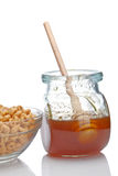 Honey and cereals Stock Photo