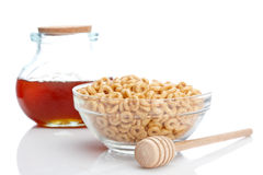 Honey and cheerios Stock Photography