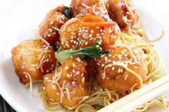Honey Chicken Royalty Free Stock Photography