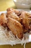 Honey Chicken Wings Fotos de archivo