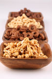 Honey and chocolate cereals Royalty Free Stock Image