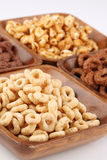 Honey and chocolate cereals Stock Image