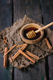Honey and cinnamon Stock Images