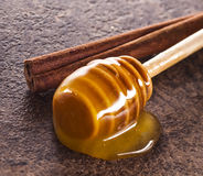 Honey and cinnamon Stock Image