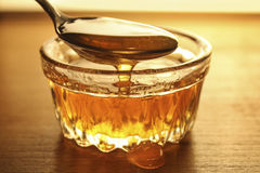Honey close up. Honey in the vessel close up stock photos