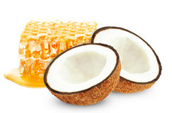 Honey and coconut Royalty Free Stock Photo