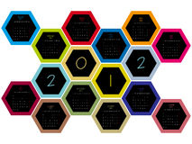 Honey comb 2012 calendar Stock Image