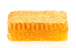Honey in the comb close-up. Stock Photo