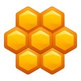 Honey comb icon, cartoon style royalty free illustration