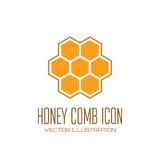 Honey comb icon Royalty Free Stock Photography
