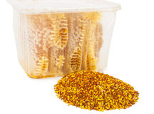 Honey comb and pollen Royalty Free Stock Image