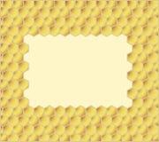 Honey combs. Honeycomb yellow background,  illustration Royalty Free Stock Photo