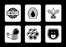 Honey concept icons set Stock Photography