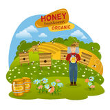 Honey Concept Illustration Royalty Free Stock Photos