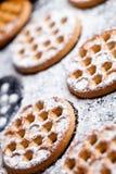 Honey cookies on baking sheet Royalty Free Stock Photo