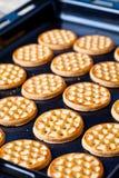 Honey cookies on baking sheet Stock Photography
