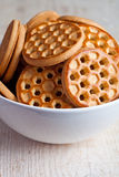 Honey cookies in a bowl Stock Photo