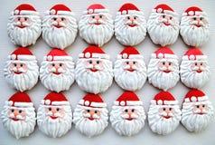 Honey Cookies en un fondo blanco, Santa Claus formó Fotos de archivo