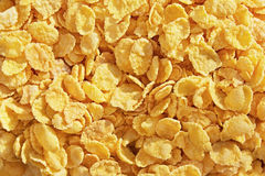 Honey cornflakes for tasty breakfast Stock Photo