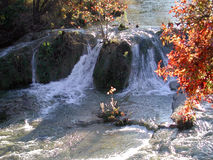 Honey Creek in Fall. Honey Creek, Turner Falls, Oklahoma in the fall Royalty Free Stock Photography