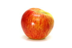 Honey Crisp Apple. On white royalty free stock photo
