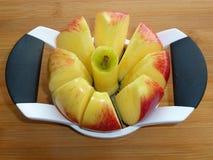 Honey Crisp Apple Slices Stock Photos