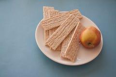 Honey and crispbread Stock Photos