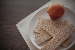 Honey and crispbread Stock Images