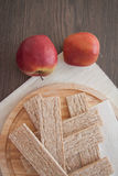 Honey and crispbread Stock Photo