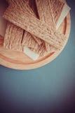 Honey and crispbread Stock Photography