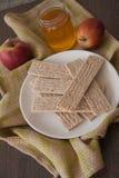 Honey and crispbread Royalty Free Stock Photography