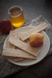 Honey and crispbread Royalty Free Stock Images