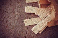 Honey and crispbread Stock Image