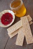 Honey and crispbread Royalty Free Stock Image