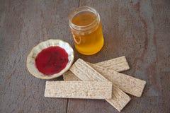 Honey and crispbread Royalty Free Stock Photo