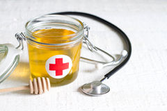 Honey is a cure abstract health lifestyle concept Royalty Free Stock Images