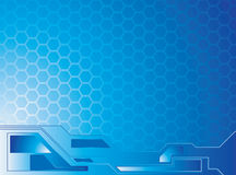 Honey data blue. An abstract background image with blue hexagon shapes Stock Photo