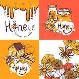 Honey Design Concept Royalty Free Stock Images