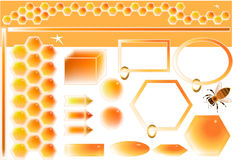 Honey design elements Stock Photography