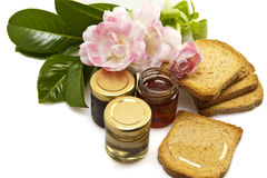 Honey of different qualities Stock Photo