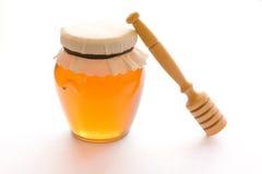 Honey and dipper Stock Photos