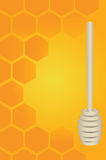 Honey Dipper And Honeycomb Stock Images