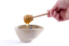 Honey Dipper Bowl Stock Photos