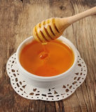 Honey dipper close up Stock Photo