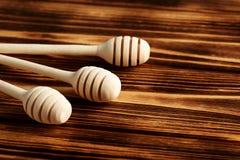 Honey Dipper de madera Imagen de archivo